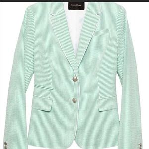 Banana Republic Seersucker Blazer
